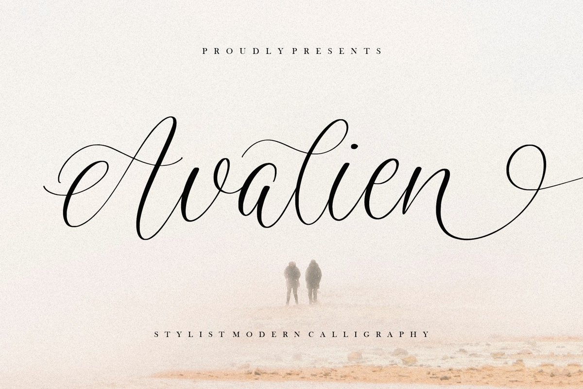 Avalien Font  - Free Modern Calligraphy Typeface