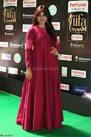 Monal Gajjar in Maroon Gown Stunning Cute Beauty at IIFA Utsavam Awards 2017 044.JPG