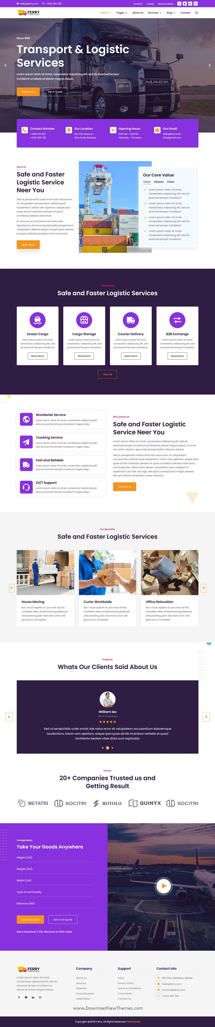 Transport & Logistics Website Template