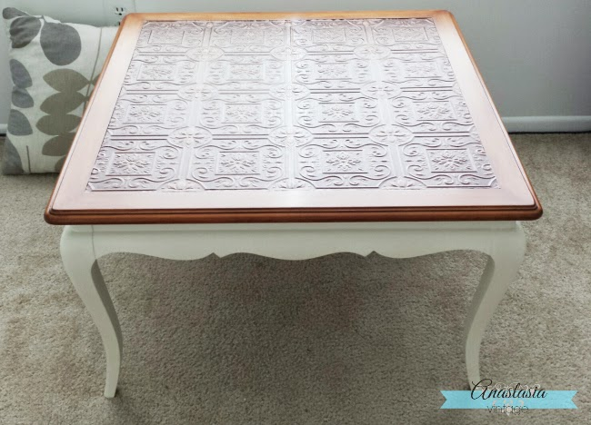 painted white french provincial coffee table wallpaper decoupage