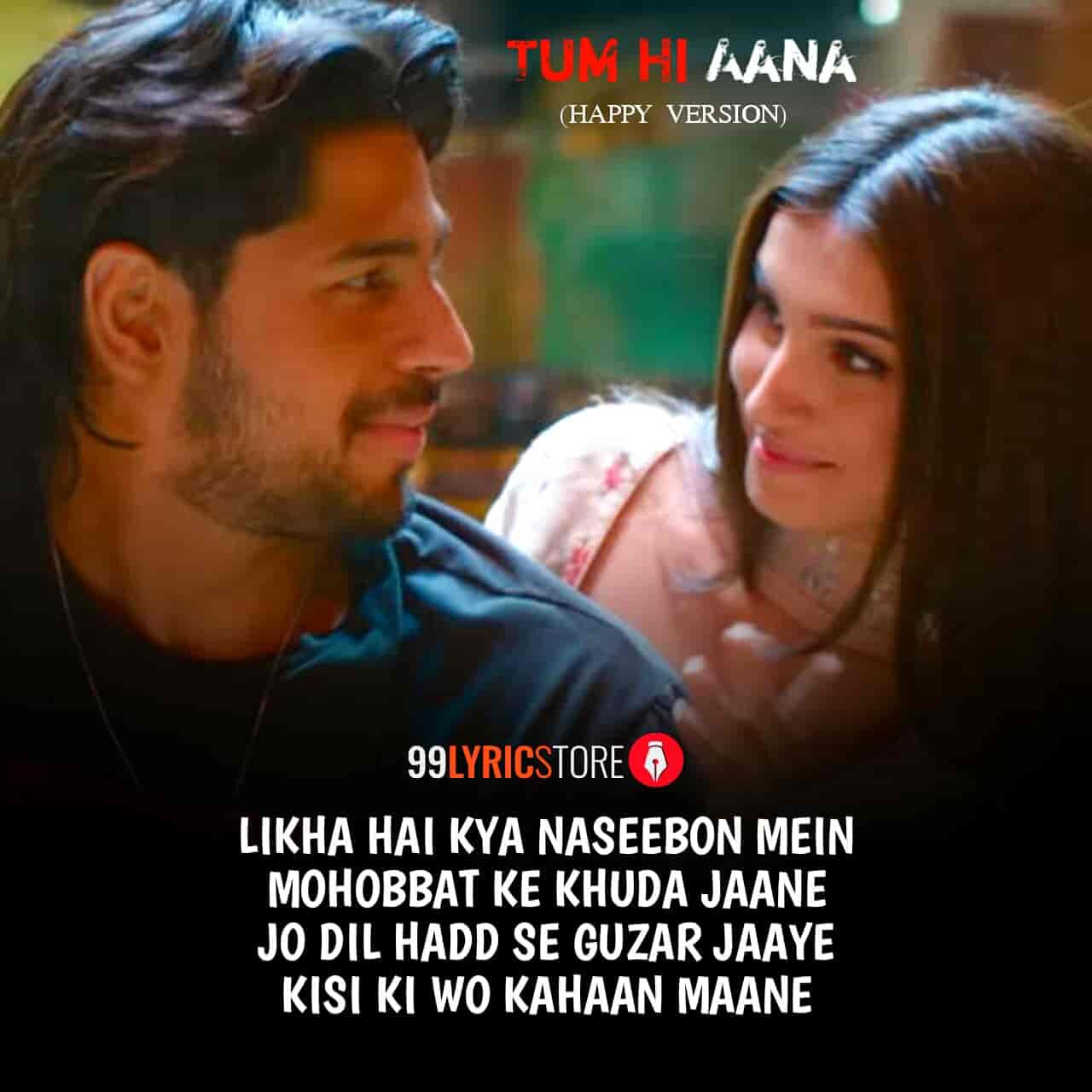 Jubin Nautiyal given his voice in the soulful much awaiting song Tum Hi Aana's Happy Version from Siddharth Malhotra, Tara Sutaria and Riteish Desmukh starrer movie 'Marjaavaan'. This sad song music given by Payal Dev while this song Tum Hi Aana Lyrics are penned by Kunaal Vermaa. This song produced by Aditya Dev and presented by World's first channel T-Series.