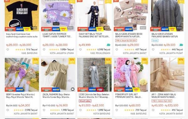 jualan baju online shop