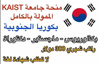 منحة جامعة KAIST 2021 كوريا الجنوبية