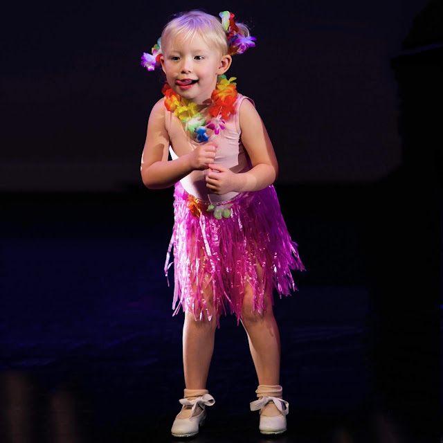 Little during her dance perfomance doing a tap dance to Moana's You're Welcome
