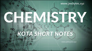 KOTA CHAPTERWISE CHEMISTRY SHORT-NOTES PDF FREE DOWNLOAD