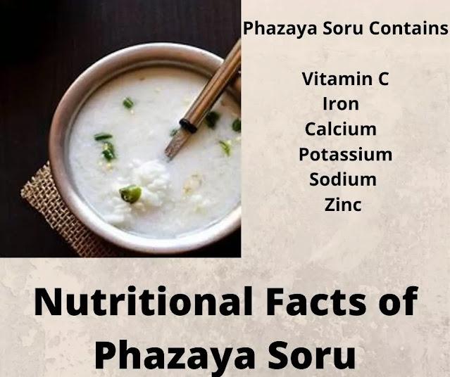 Pazhaya soru Nutritional Facts