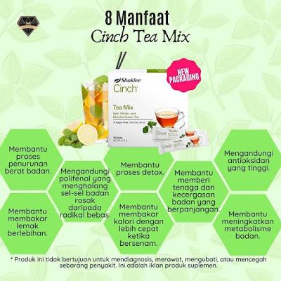 Manfaat Cinch tea mix Shaklee