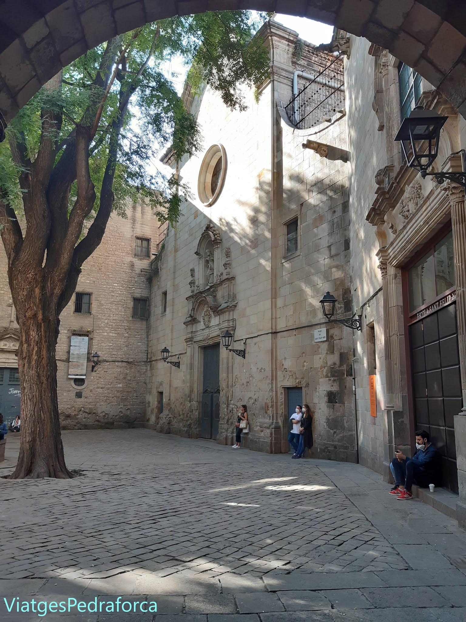 Església de Sant Felip Neri, Ciutat Vella, Barri Gòtic, Guerra Civil