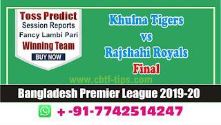 cricket prediction 100 win tips Khulna vs Rajshahi