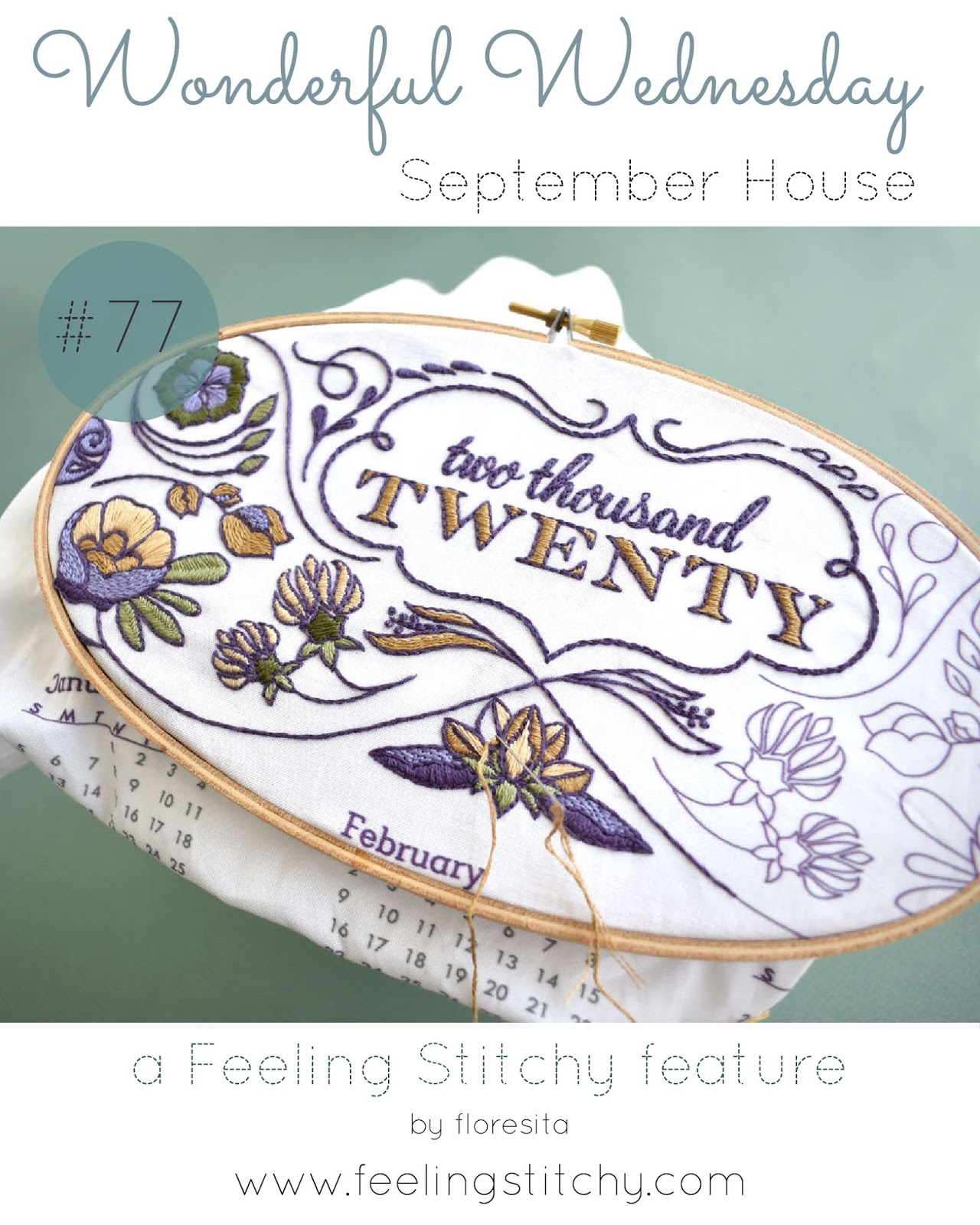 Wonderful Wednesday 77 - Septemberhouse Calendar Kit on Etsy as featured by floresita on Feeling Stitchy