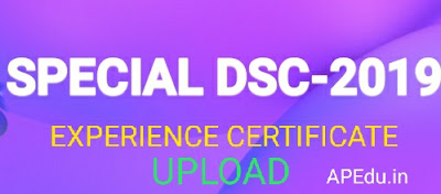SPECIAL DSC-2019 EXPERIENCE CERTIFICATE UPLOAD