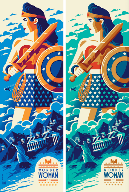 Golden Age: Wonder Woman Screen Print by Tom Whalen x Bottleneck Gallery x DC Comics