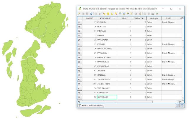 banco de dados do shapefile - mapas nageo cartografia