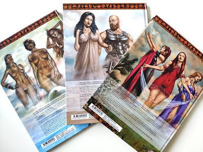 Quatrième de couverture de la BD Achille: la version Tabou de la mythologie