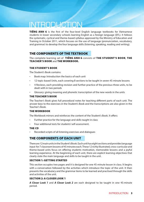 Trang 3 sach Sách Giáo Viên Tiếng Anh 6 Tập 2