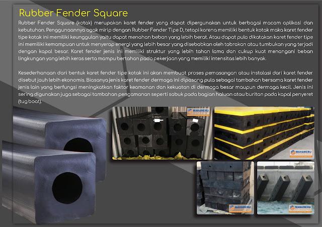 rubber fender square 500 murah