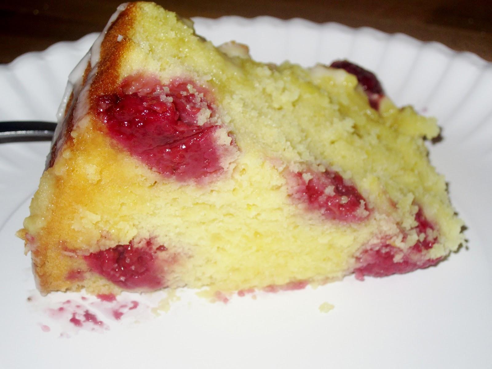 Mama Nibbles: Fresh Lemon Raspberry Yogurt Cake Recipe