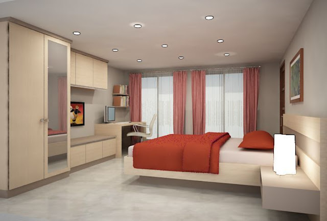 Desain Kamar Tidur Model Rumah Minimalis Tipe 54