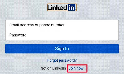 click on join now- linkedin