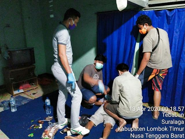Sedang Asyik Nyabu, AG Diciduk Polres Lombok Timur