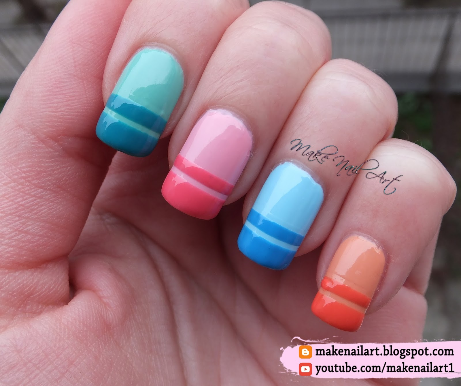 Make Nail Art: Spring / Easter Pastel French Manicure Nail Art ...