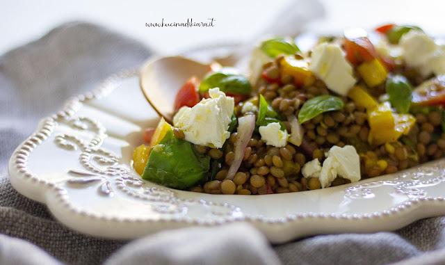 Adassariano, ovvero Insalata palestinese di peperoni, lenticchie e pomodoro
