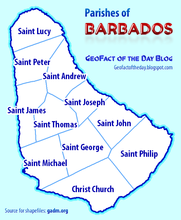 GeoFact of the Day: Parishes of Barbados on