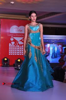 South Indian Celebrities Pos at Love For Handloom Collection Fashion Show  0048.jpg