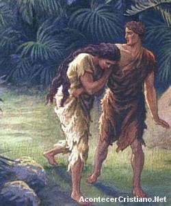 Adán y Eva expulsados del paraiso