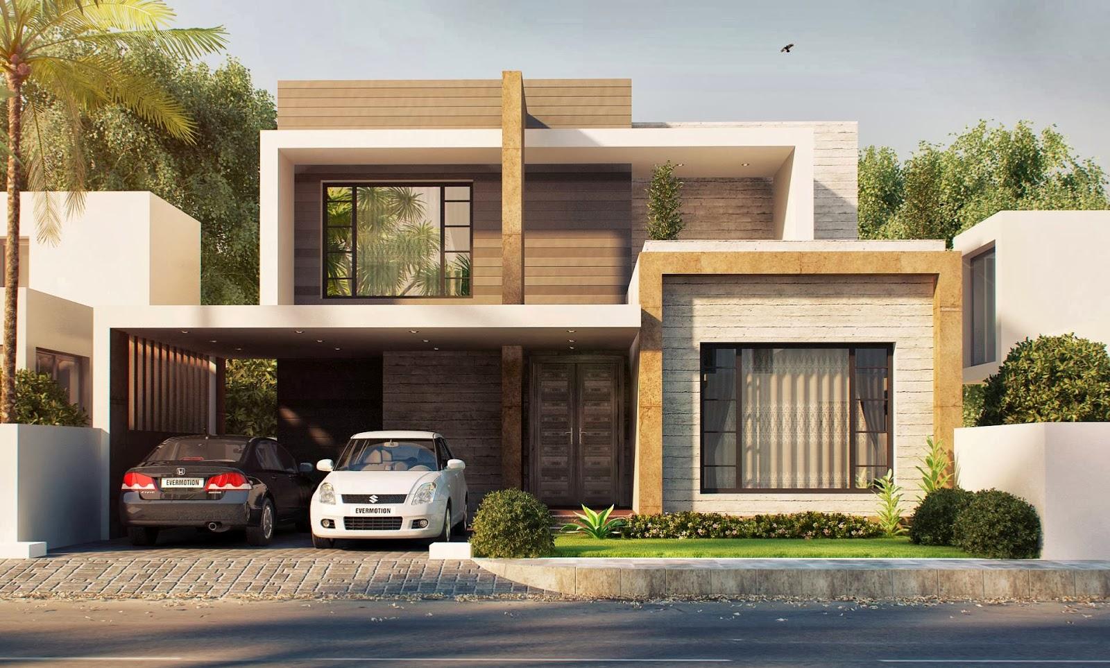 House Plans and Design: Modern Roman Villa House Plans