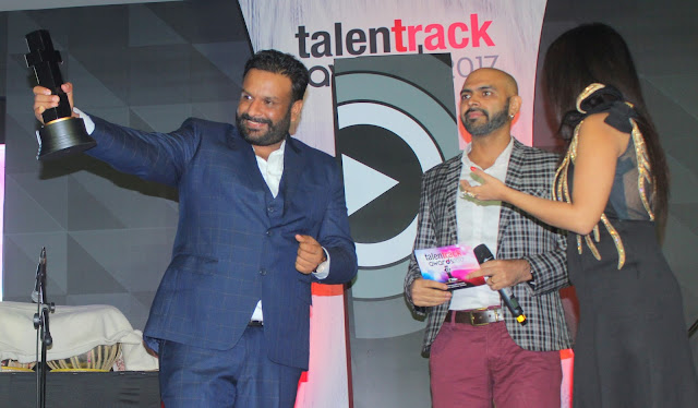 Varun Prabhudayal Gupta founder of Ampliify Times Music Record Label won the award for the Digital Enterprise Start Up of The Year at Talent Track Awards