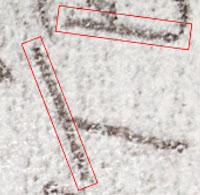 Letter T showing micro written code
