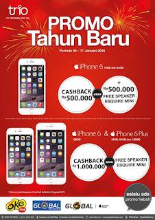 iPhone 2016 di Global Teleshop dan OkeShop Promo Cashback Hingga Rp 1 juta atau Bonus Harman Kardon Esquire Mini