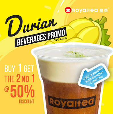 Royaltea皇茶 2nd Drink Half Price Discount Offer Promo