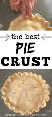 collage of pie crust images with the text the best pie crust
