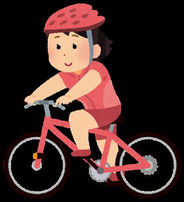 サイクリングのイラスト(女性)