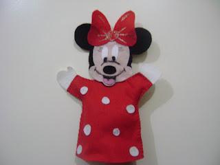 DSC05989 - Centro de mesa, lembrancinha, saquinho de guloseimas, Fantoche Mickey e Minnie em feltro