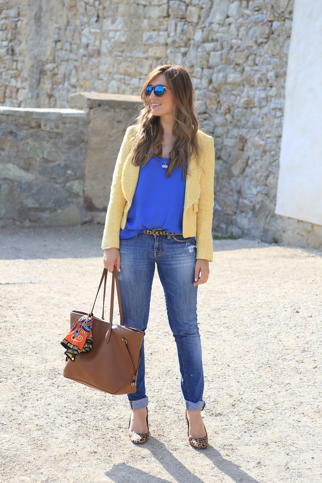 Look of the day - Blogger - Blogger Outfits - Blogger casual look - gelber Zara Blazer