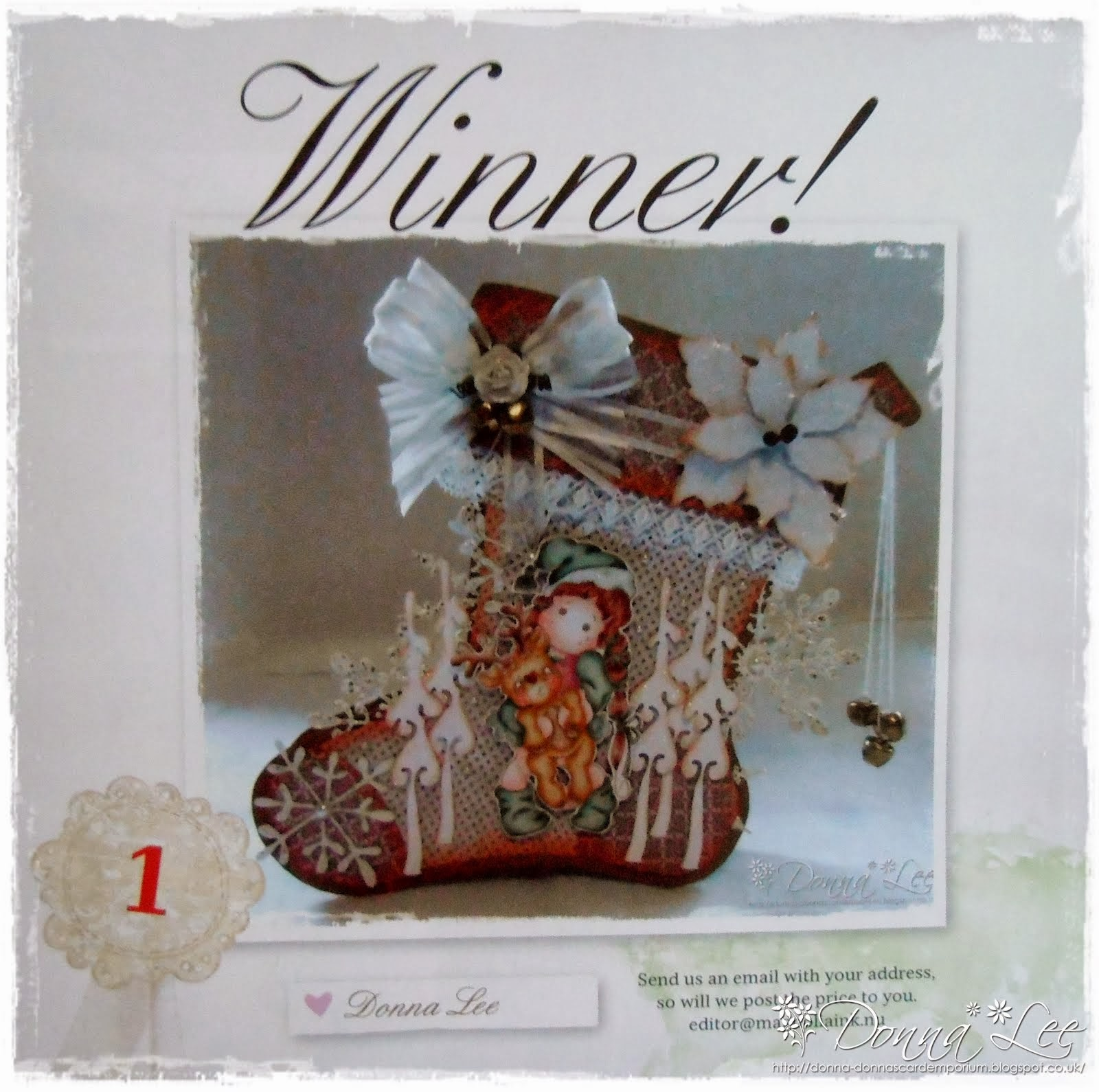 So proud to be the Christmas stocking contest winner!