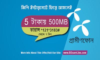 GP 500MB 5TK New Internet offer