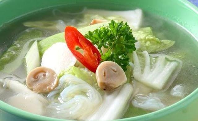 Membuat Sup Sawi Putih Campur Kapri Jamur Merang Yang Lezat
