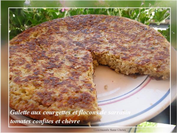 Gourmande sans gluten galette de courgettes aux flocons de sarrasin sans gluten - Galette sarrasin sans oeuf ...