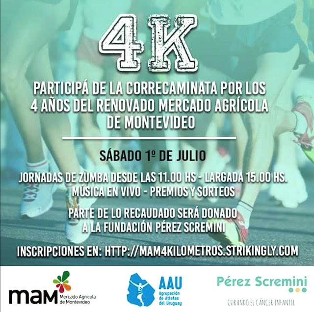 4k MAM por los 4 años de reapertura del Mercado Agrícola de Montevideo (01/jul/2017)