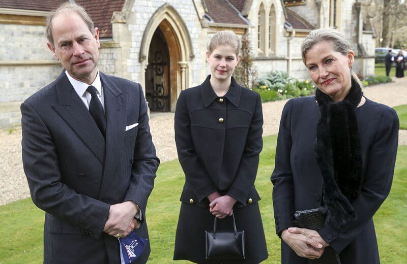 The Earl and Countess of Wessex and Lady Louise Windsor attended Sunday service