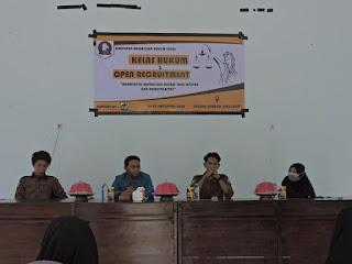 Pengurus Himpunan Mahasiswa Hukum Sinjai Padati Gedung Pemuda Sinjai