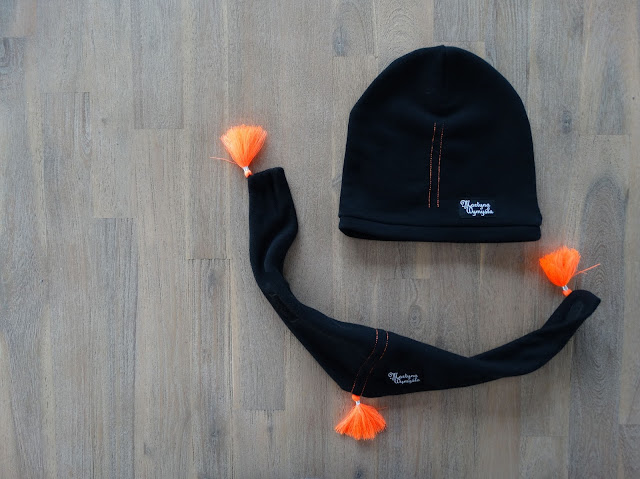 wiosenny komplet czapka i chustka dla dziewczynki 4