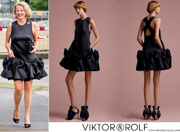 Princess Mabel wore VİKTOR & ROLF Bow Volant Mini Dress