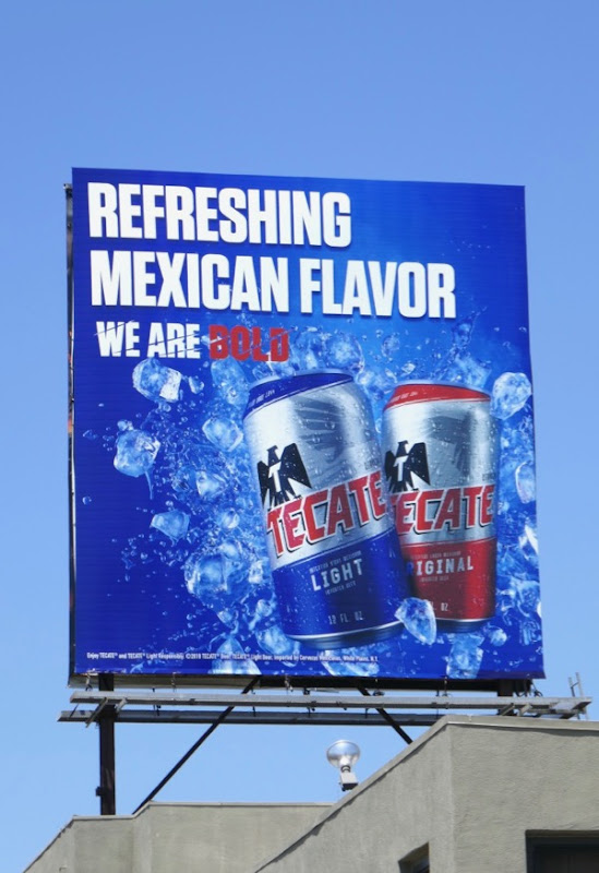 Tecate Refreshing Mexican Flavor billboard