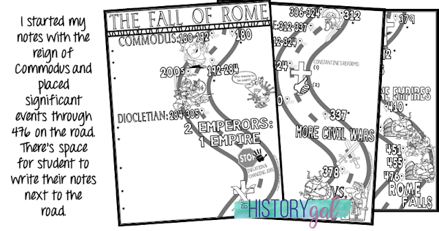 Images of Fall of Rome Doodle Notes