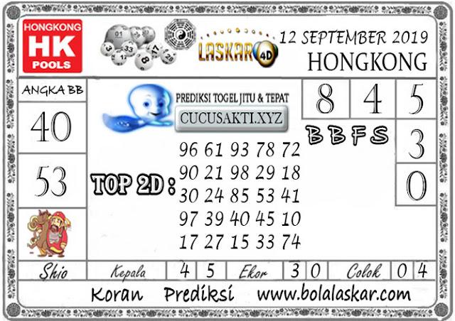 Prediksi Togel HONGKONG LASKAR4D 12 SEPTEMBER 2019